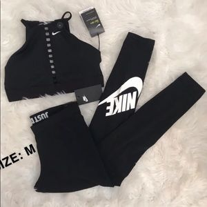 NWT Nike leggings and Bra